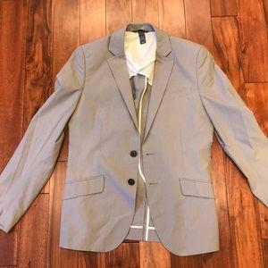 HM Gray Suit Jacket 36R